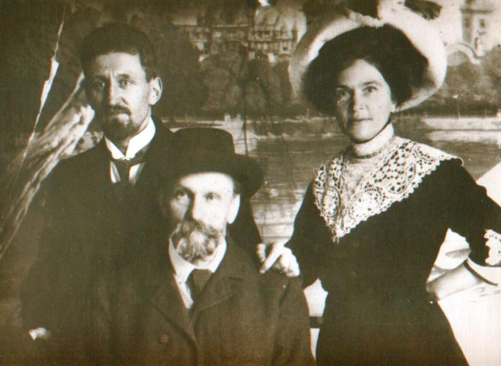 Pauls Dauge, Rainis un Aspazija 1911. gada decembrī Cīrihē