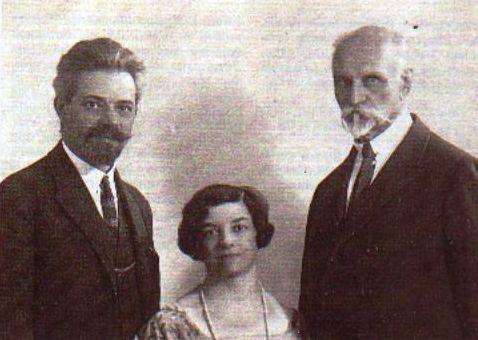 Boriss un Eleonora Livšici un Rainis 1926. gadā